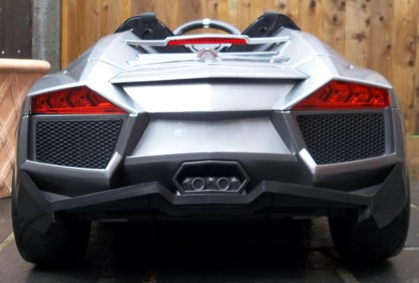 2 Seater Lamborghini Ride on Car - 12v - Grey Silver-8728