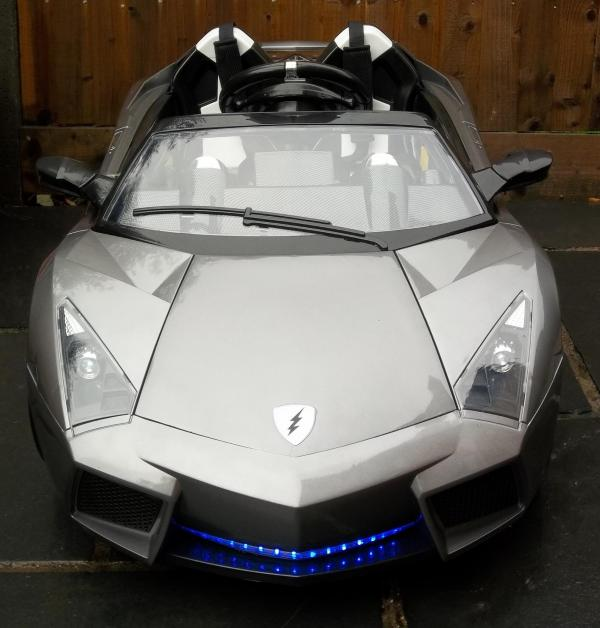 2 Seater Lamborghini Ride on Car - 12v - Grey Silver-8726