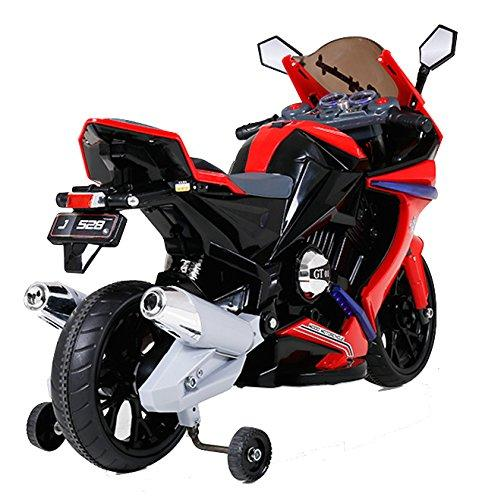 Kids 1000 Ride on Electric Battery Sports Motorbike Super Bike 12v - Red-8884