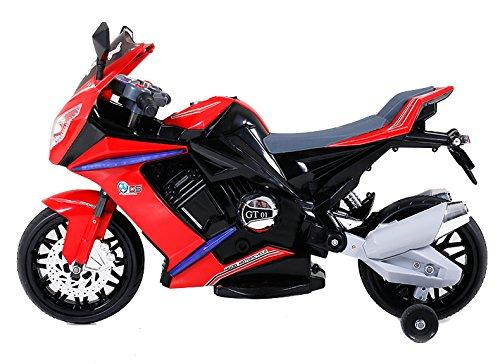 Kids 1000 Ride on Electric Battery Sports Motorbike Super Bike 12v - Red-8881