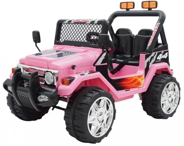 12v Ride on Jeep - 2 Seater Jeep - Pink-0