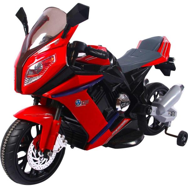 Kids 1000 Ride on Electric Battery Sports Motorbike Super Bike 12v - Red-0