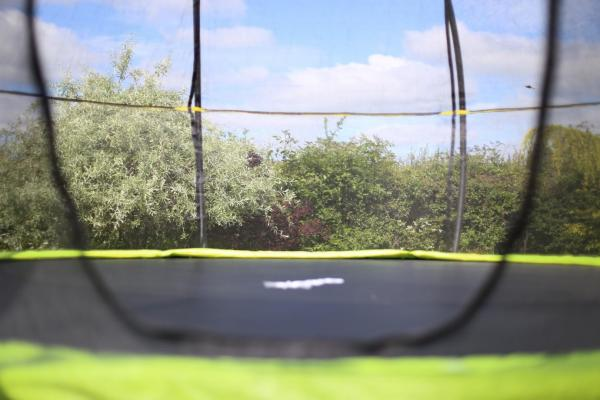 Rebo Green 12FT Base Jump Trampoline With Halo II Enclosure-8940