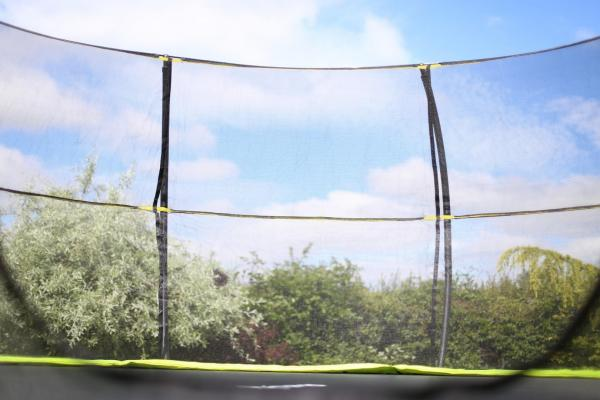 Rebo Green 12FT Base Jump Trampoline With Halo II Enclosure-8939