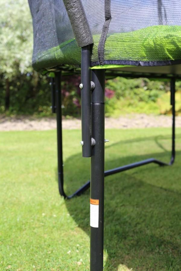 Rebo Green 12FT Base Jump Trampoline With Halo II Enclosure-8936