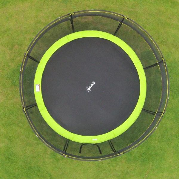 Rebo Green 12FT Base Jump Trampoline With Halo II Enclosure-8937