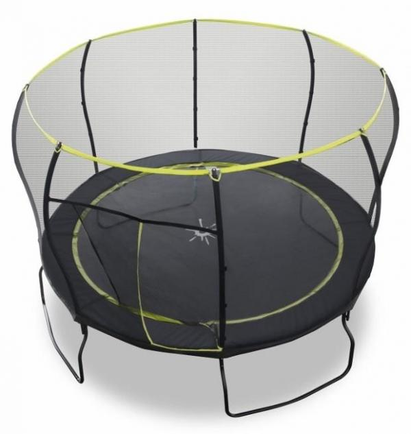 Rebo 12FT Black Air Launch II Trampoline With Halo Enclosure-8902