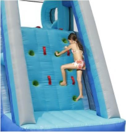 Duplay Kids Happy Hop Inflatable Kamikaze Double slip and slide Water slide 9183-9077