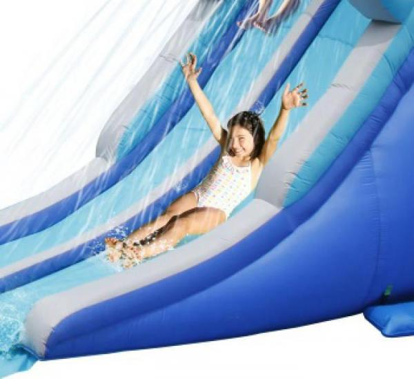 Duplay Kids Happy Hop Inflatable Kamikaze Double slip and slide Water slide 9183-9079