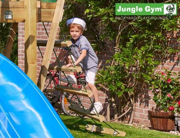 Jungle Gym Wooden Jungle Hut Climbing Frame Playset with Boat Module-9355