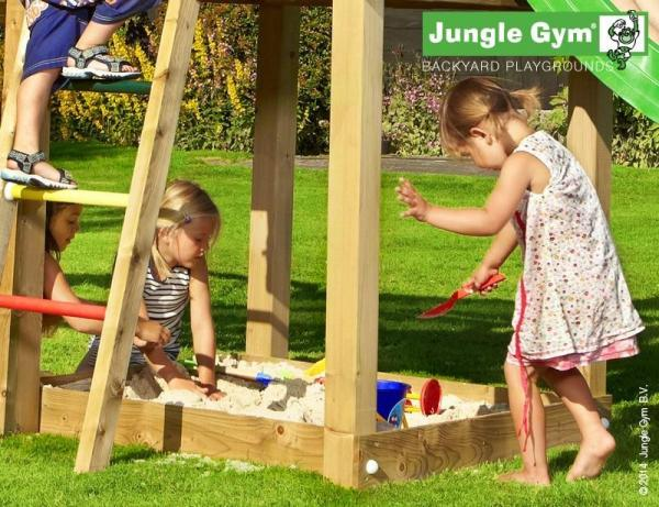 Jungle Gym Wooden Jungle Hut Climbing Frame Playset with Boat Module-9352