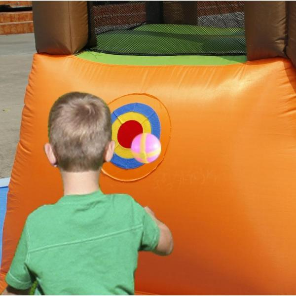 Duplay Happy Hop Inflatable Monkey Jungle 10ft Bouncy Castle with Slide 9471-9409