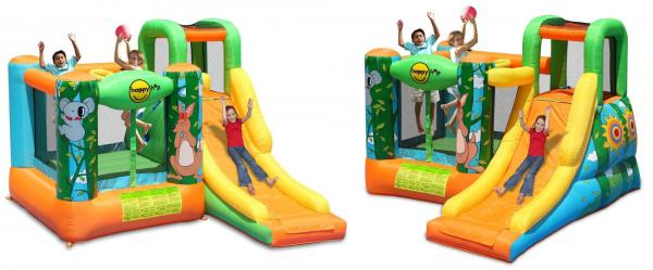 Duplay Happy Hop Inflatable Jungle Adventure Kids 10ft Bouncy Castle with Slide 9171N-9424