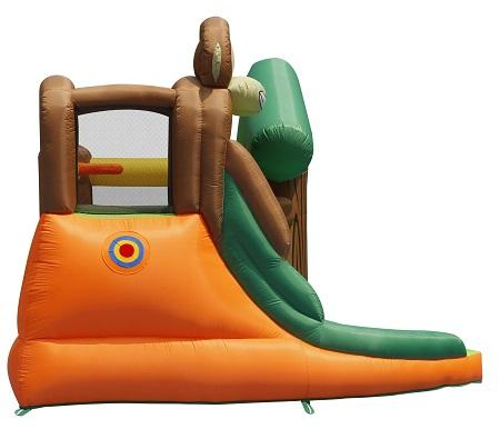 Duplay Happy Hop Inflatable Monkey Jungle 10ft Bouncy Castle with Slide 9471-9414