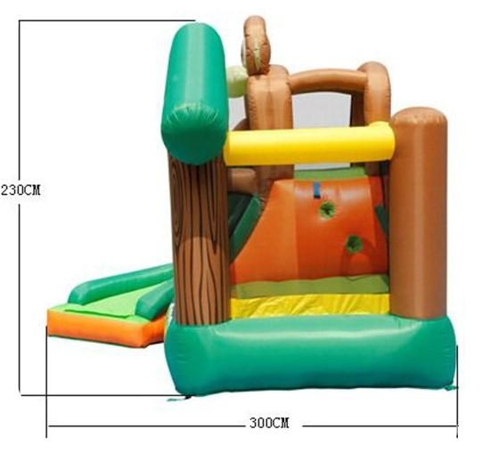 Duplay Happy Hop Inflatable Monkey Jungle 10ft Bouncy Castle with Slide 9471-9413
