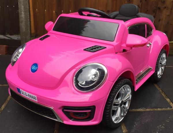 Pink ride on car - VW Style Bug Convertible 12v-0