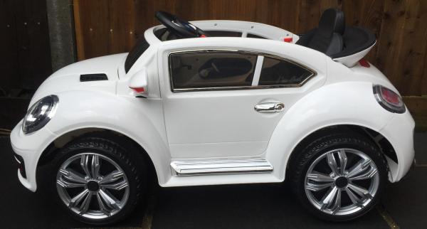 Kids Convertible Bug - Electric / Battery 12v Ride on Car - White-10578
