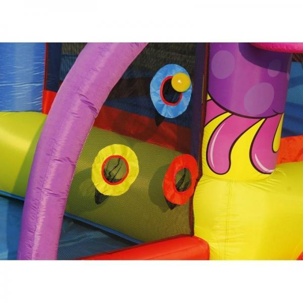 Duplay Happy Hop Friends on Mars Bouncy Castle with Slide and Ball Pit-10504