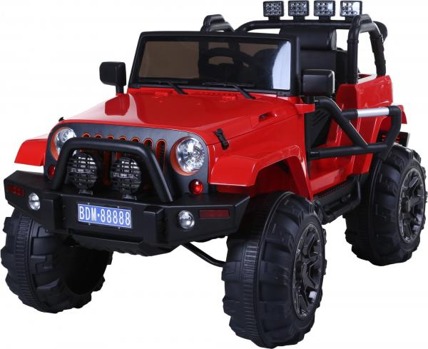 Rocket Wrangler Jeep style ride on car - Red-0
