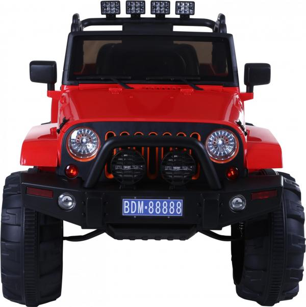 Rocket Wrangler Jeep style ride on car - Red-10022
