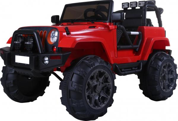 Rocket Wrangler Jeep style ride on car - Red-10021