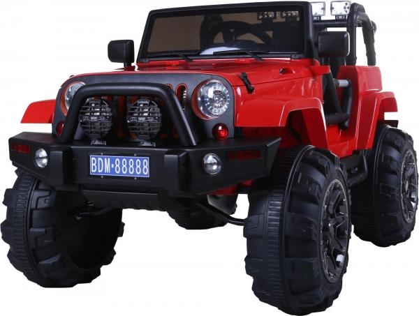 Rocket Wrangler Jeep style ride on car - Red-10020