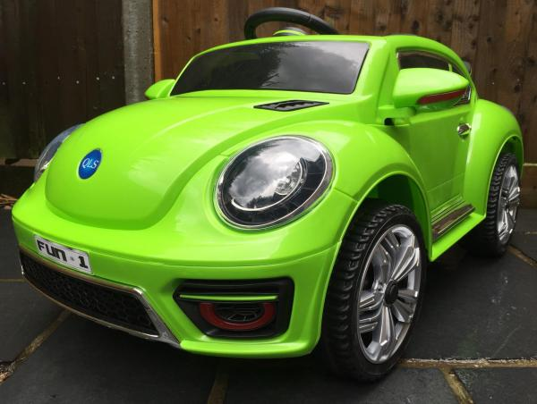 Kids Convertible Bug - Electric / Battery 12v Ride on Car - Green-10575