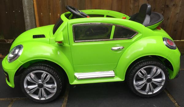 Kids Convertible Bug - Electric / Battery 12v Ride on Car - Green-10577