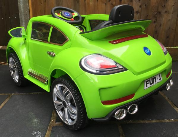 Kids Convertible Bug - Electric / Battery 12v Ride on Car - Green-10571