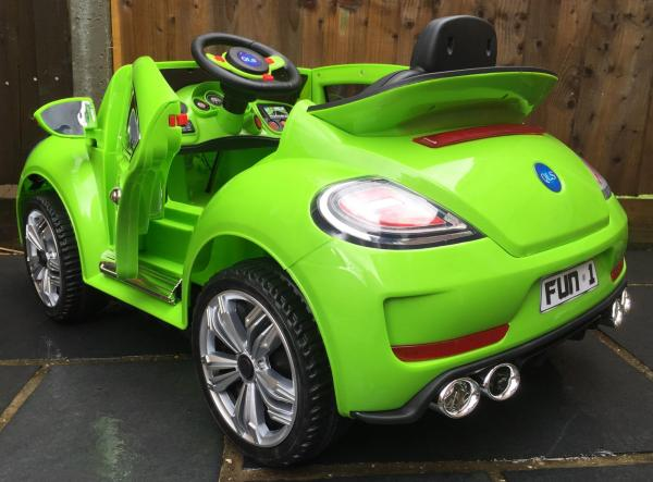 Kids Convertible Bug - Electric / Battery 12v Ride on Car - Green-10576