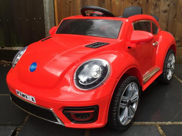 Kids Convertible Bug - Electric / Battery 12v Ride on Car - Red-0