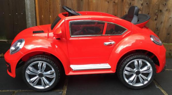 Kids Convertible Bug - Electric / Battery 12v Ride on Car - Red-10565
