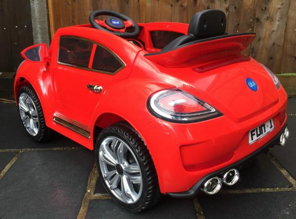 Kids Convertible Bug - Electric / Battery 12v Ride on Car - Red-10566