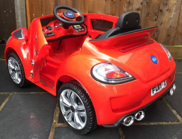 Kids Convertible Bug - Electric / Battery 12v Ride on Car - Red-10568