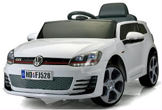 Kids VW Golf GTI Hot Hatch Sport 12v Electric Car - White-0
