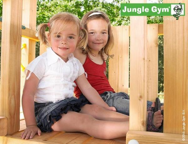 Jungle Gym Wooden Cubby Climbing Frame / Playset with Climb Xtra module-9977