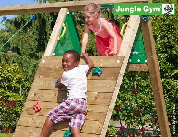 Jungle Gym Wooden Cubby Climbing Frame / Playset with Climb Xtra module-9976