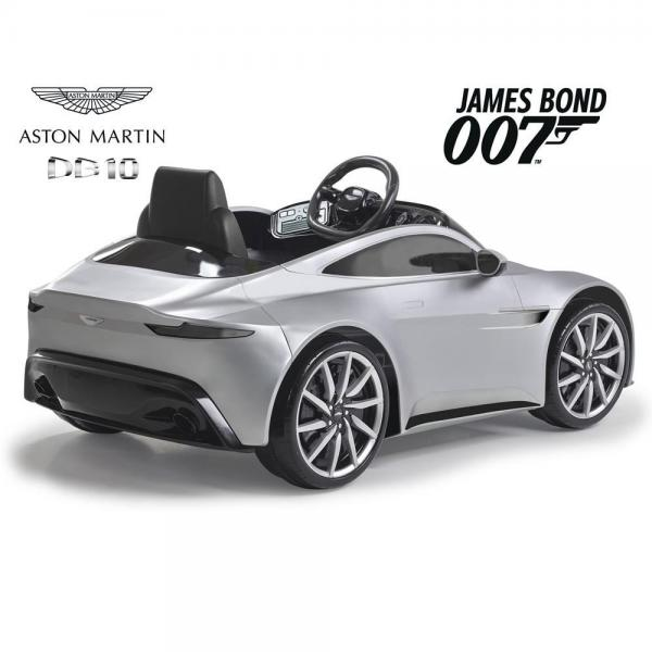 Kids Feber Aston Martin DB10 Electric / Battery 6v Ride on car with smartphone controller - Silver-10709