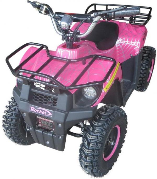 Kids Rocket Dirt 36v 1000w Electric / Battery Quad Bike Pink-0