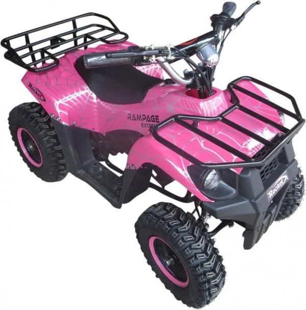 Kids Rocket Dirt 36v 1000w Electric / Battery Quad Bike Pink-10817