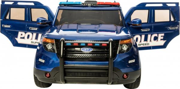 Kids Police Range Rover style 4x4 12v Electric Jeep - Blue-10968