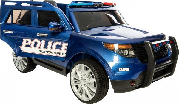 Kids Police Range Rover style 4x4 12v Electric Jeep - Blue-10969
