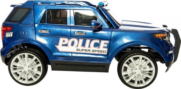 Kids Police Range Rover style 4x4 12v Electric Jeep - Blue-10965