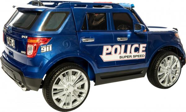 Kids Police Range Rover style 4x4 12v Electric Jeep - Blue-10966