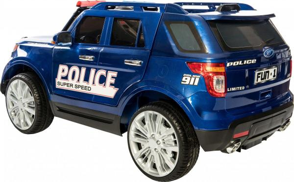 Kids Police Range Rover style 4x4 12v Electric Jeep - Blue-10963