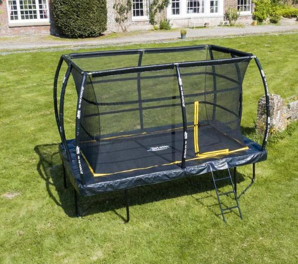Telstar Elite 7.5ft x 10ft Rectangle Trampoline and Enclosure Package with Ladder and Cover -0