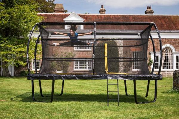 Telstar Elite 10ft x 15ft Rectangle Trampoline and Enclosure Package with Ladder and Cover -13918