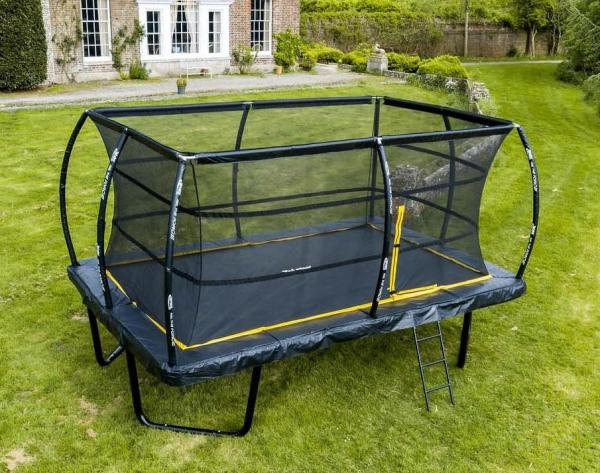 Telstar Elite 10ft x 15ft Rectangle Trampoline and Enclosure Package with Ladder and Cover -0
