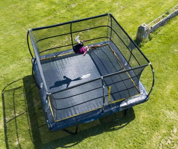 Telstar Elite 15ft x 15ft Square Trampoline and Enclosure Package with Ladder-13912