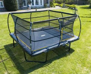 Telstar  Elite 15ft x 15ft Square Trampoline and Enclosure with LadderTelstar Elite 15ft x 15ft Square Trampoline and Enclosure Package with Ladder-0